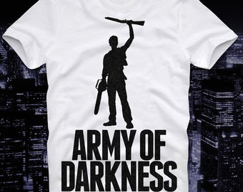 4258b737 T Shirt Army Of Darkness Armee der Finsternis Evil Dead Horror Cult Movie  Boomstick Retro Vintage Ash Bruce Campbell