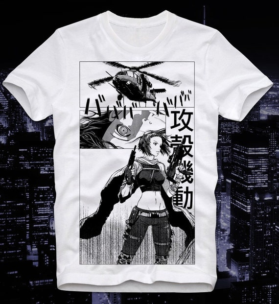 T Shirt Ghost In The Shell Japan Japanese Anime Manga Cult Etsy
