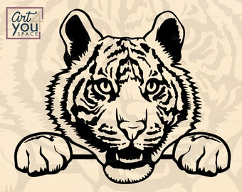 Tiger Svg Tiger With Glasses Bubble Gum Cricut Funny Wild Etsy
