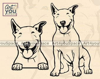 Bull Terrier Svg Etsy