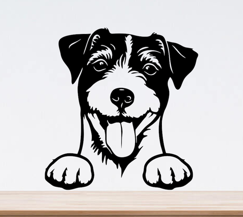 Download Jack russell terrier svg peeking dog svg cricut dog dxf | Etsy