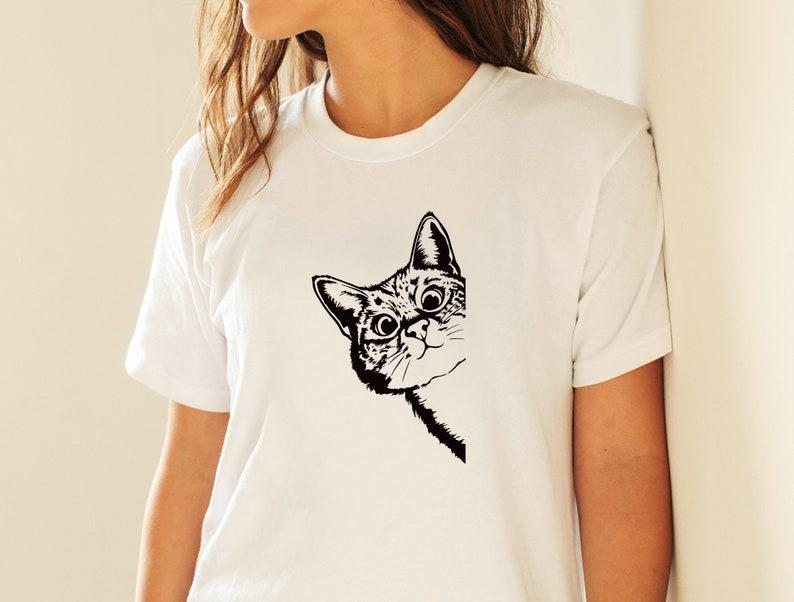 printable Portrait vector graphics Download shirt svg silhouette png dxf funny face head stencil cute Cat SVG Christmas clipart cricut