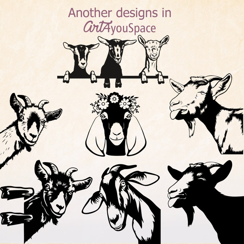 Download Peeking Goat head svg cricut curious dairy goat face funny ...