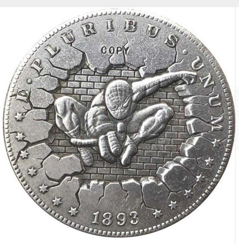 spiderman Hobo Nickel Coin 1893 commemorative #41