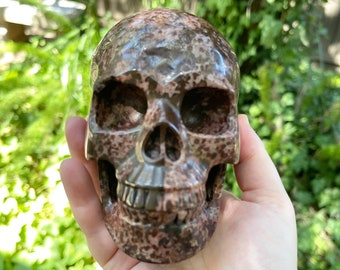 Tigerite Quartz Crystal Skull