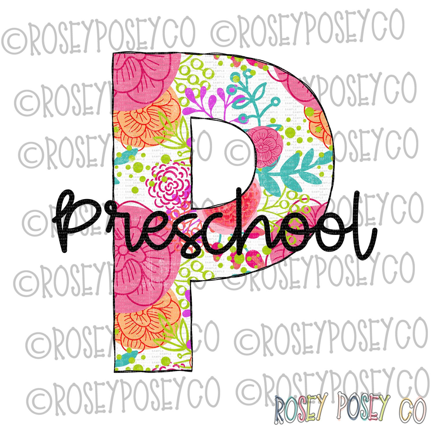 Digital Download Back to school Preschool Leopard and Floral Sublimation Transfers Commercial Use 1st Day of School PNG File