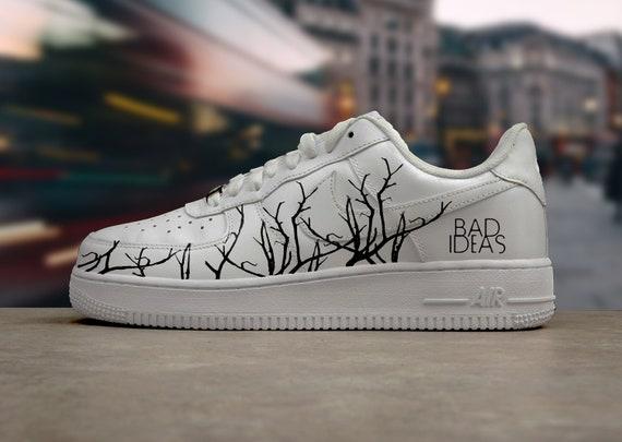 Nike Air Force 1 Bad Ideas Tree Hand