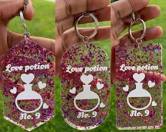 Love potion key chains