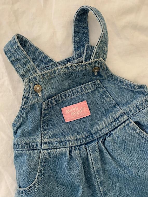 Vintage Kids Baby Osh Kosh White American Flag Overalls Shorts Size 6 months