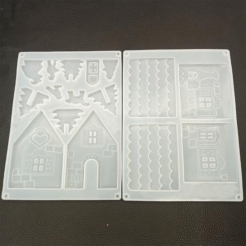 Personality House Mold Diy Clay Mold Making WidgetsPendantsOrnament Handmade Mold Make Gift. Resin Mold Silica Gel Mold Crafts mold