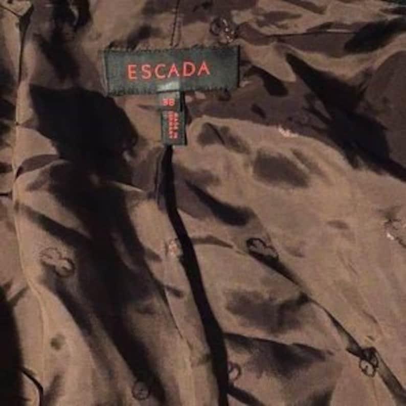 Vintage Escada Brown and Black Color Block Jacket