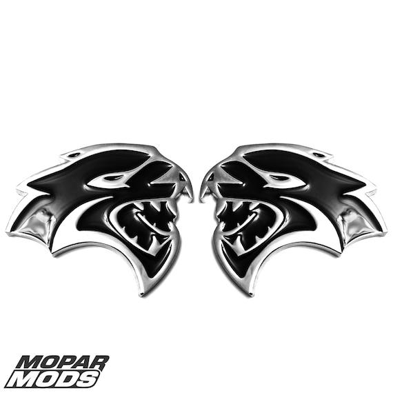 hellcat srt emblem door side fender badge sticker decal metal dodge challenger hellcat srt emblem door side fender