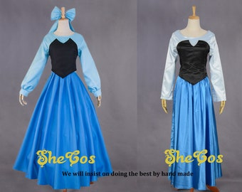 Ariel cosplay costume adult from The Little Mermaid movie Ariel dress for girls and Women