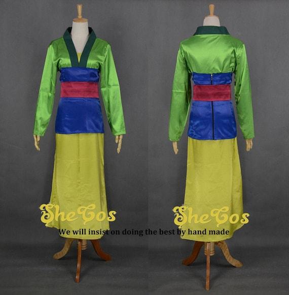 Mulan Costume Adult Cosplay Disney Princess Mulan Dress For Etsy