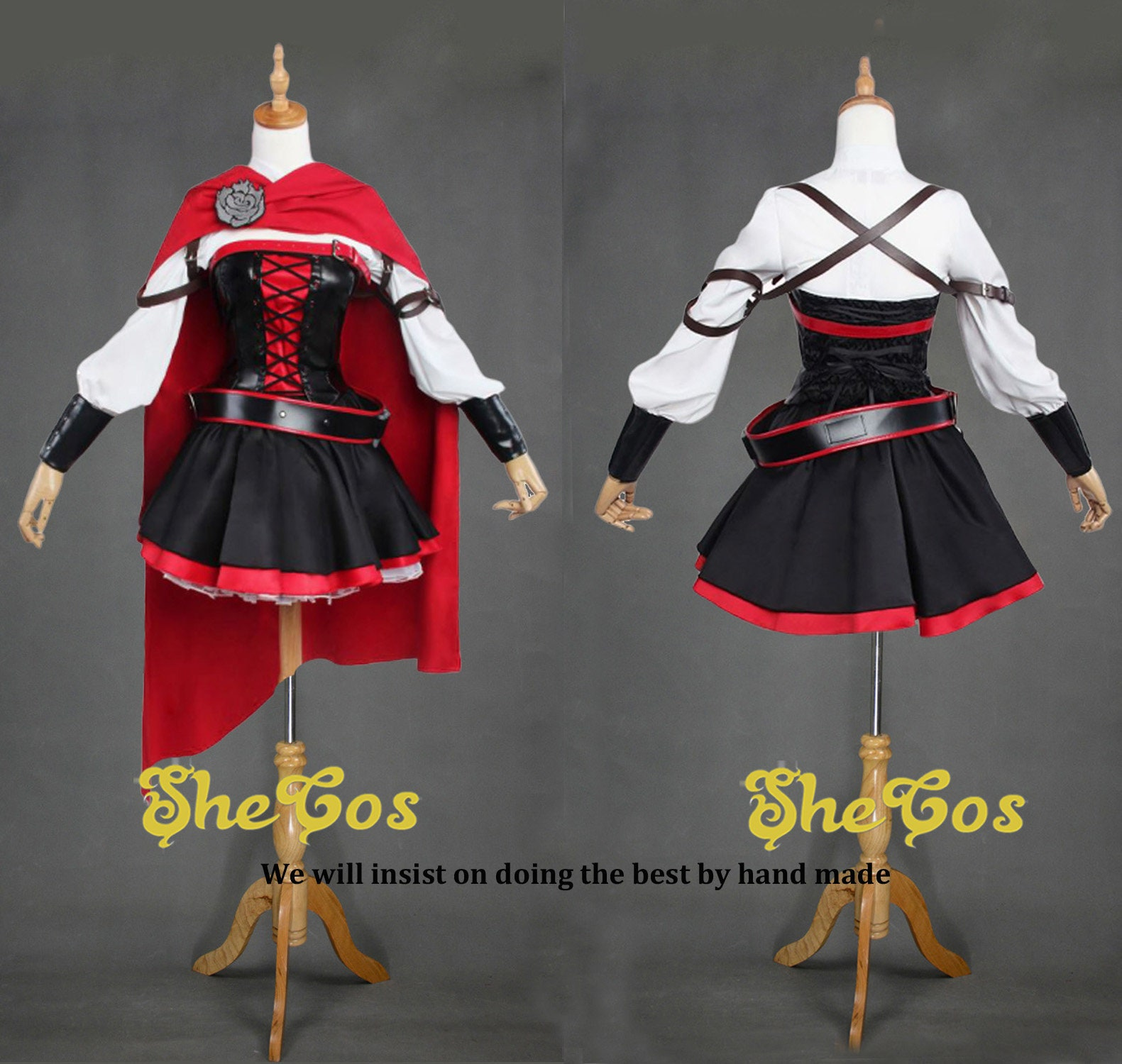 RWBY 3 Season Battler Ruby Rose Cosplay Costume Dress Uniform Suit Outfit