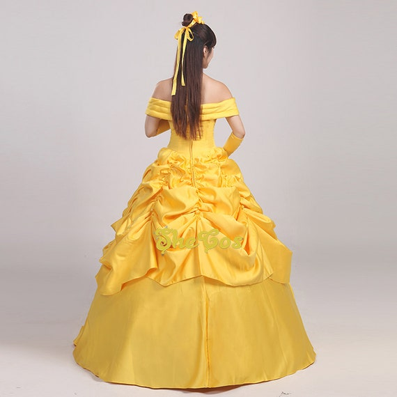 Beauty And Beast Belle Cosplay Costume 3 style Classic Ballgown dress