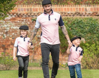 7a854a01a Father And Son Matching Pink Polo Shirts