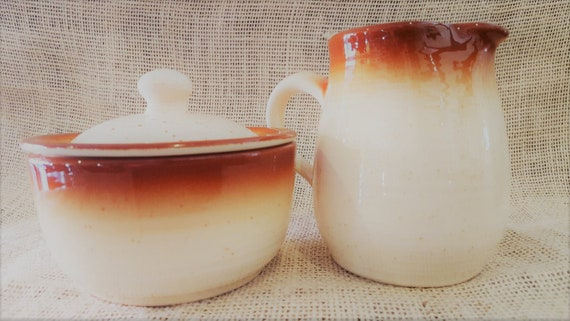 Franciscan's Country Craft creamer & sugar bowl set