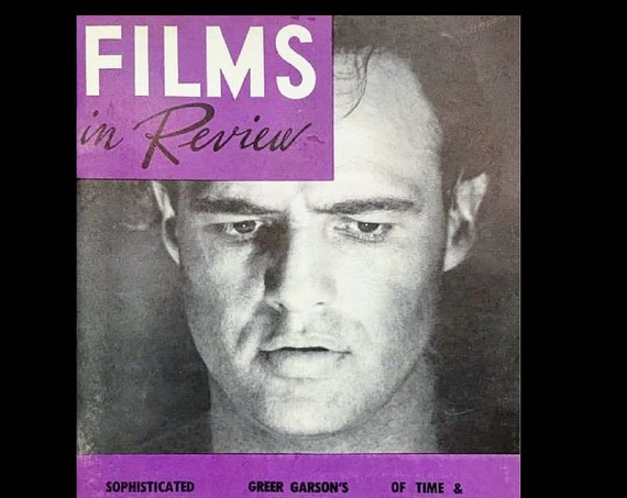 Films in Review Magazine, March 1961, young Marlon Brando 60's, Free Shipping!