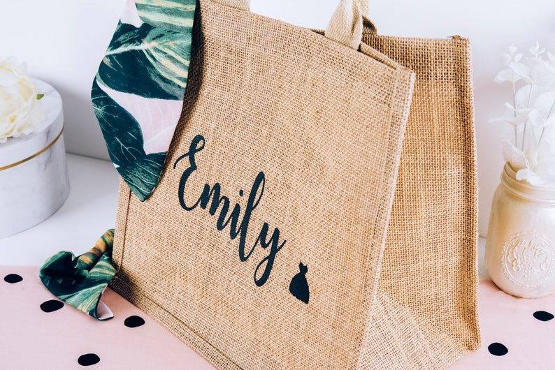 Personalized Burlap Beach Bag Custom Burlap Beach Bag Large image 0