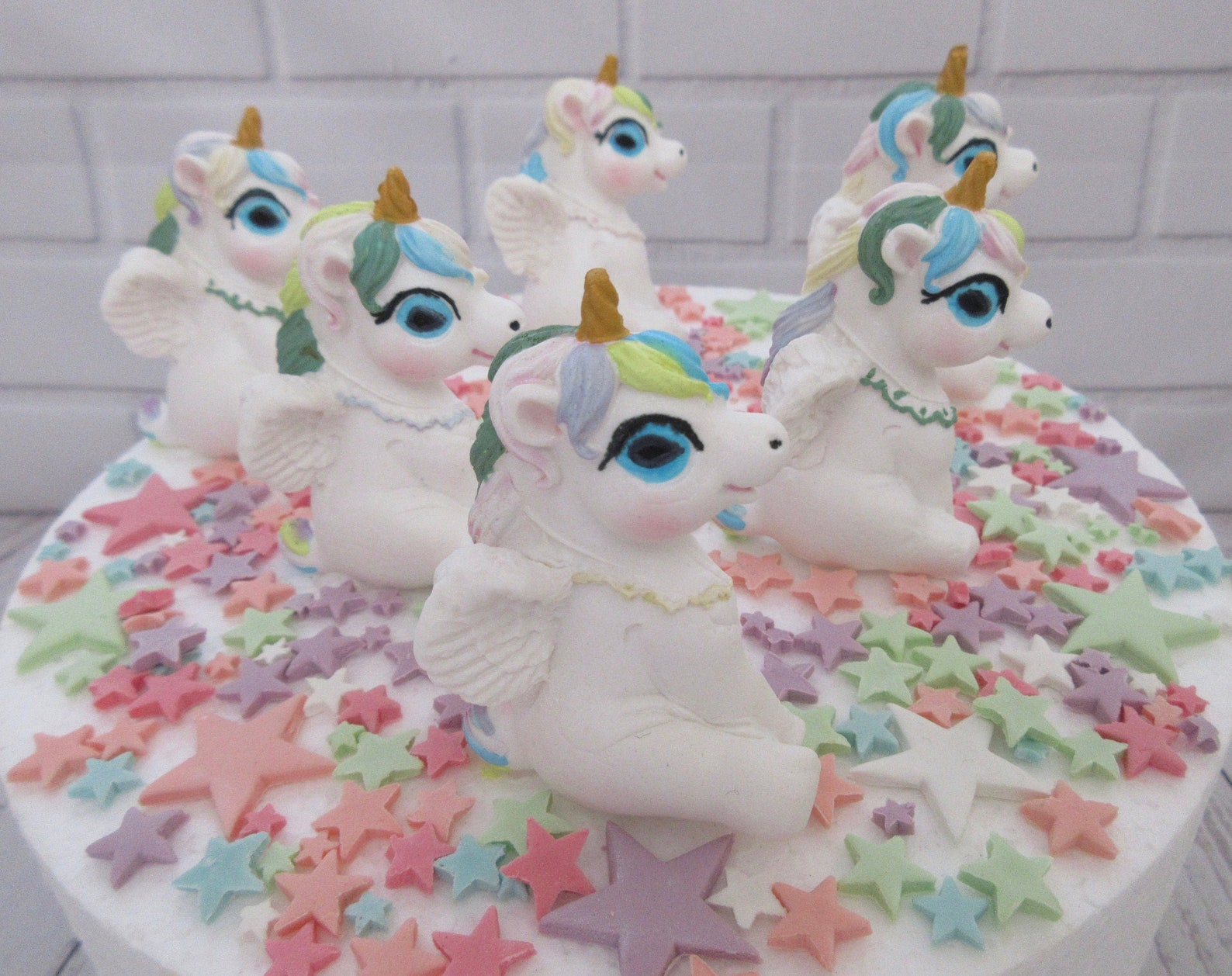 Fondant Unicorn Cake Toppers Page Two