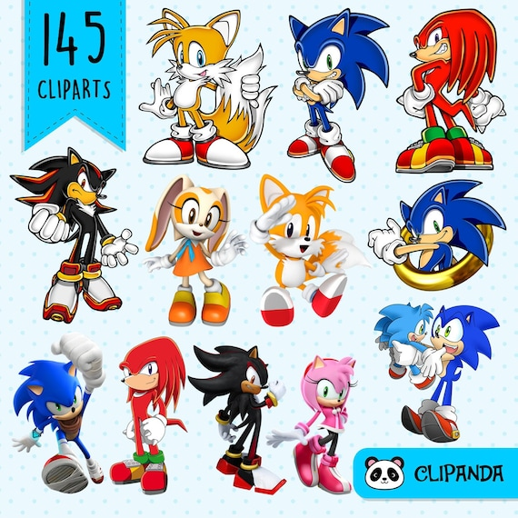 Sonic The Hedgehog Clipart Png Transparent Background Etsy