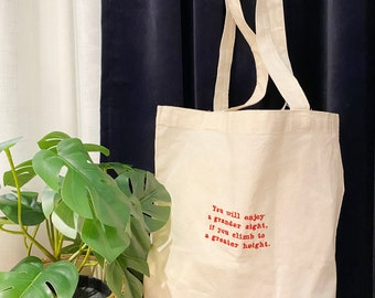 Personalized Tote Bag, Custom Name Tote Bag,Tote Bag With Quote,Personalized Embroidery Bag,Birthday Gift, Grocery Bag,Shopping Bag