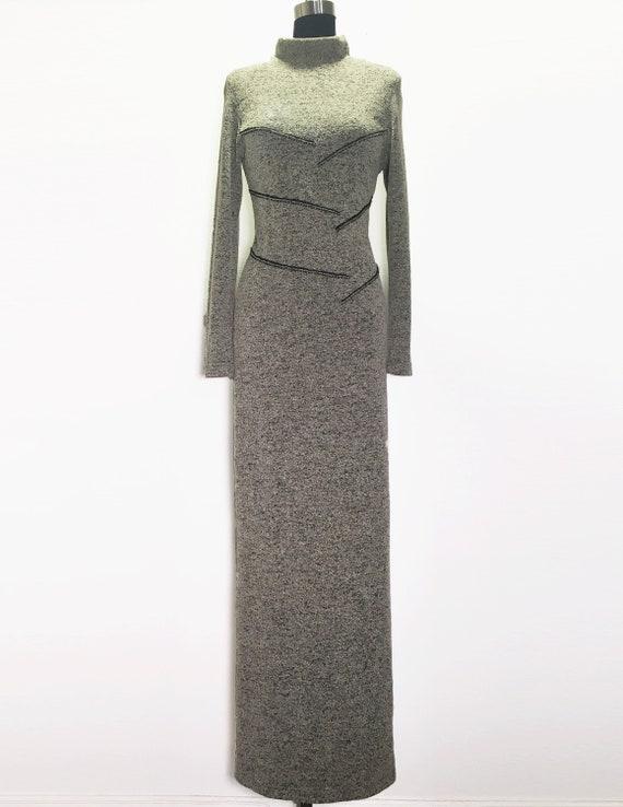 Vintage 90s HIgh Neck Sweater Dress