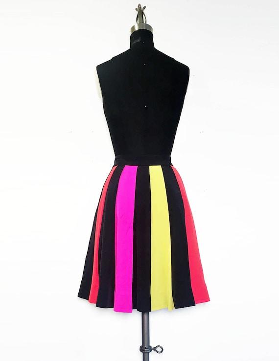 Kate Spade Rainbow Stripe Pleated Skirt
