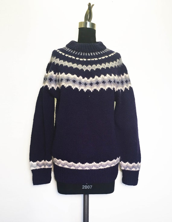 Vintage Cozy Nordic Fair Isle Wool Sweater