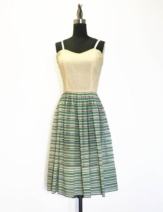 Vintage 1950s Striped Sundress