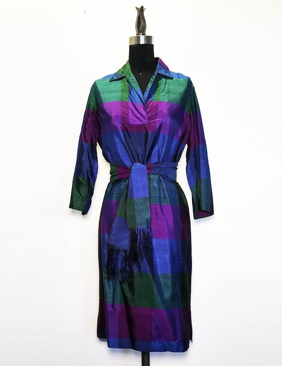 Vintage 60s Silk Shirtdress