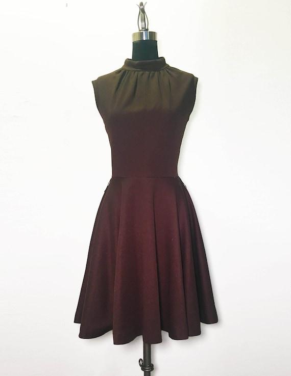 Vintage 60s Mini Dress with Circle Skirt
