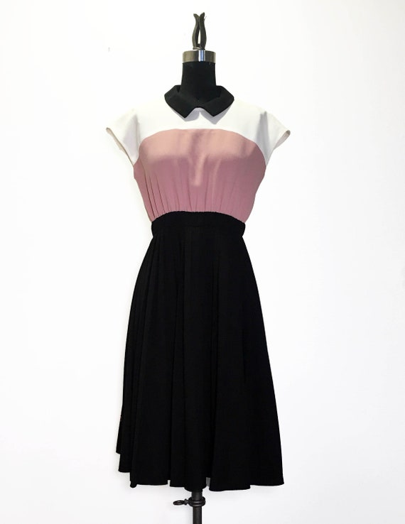 Kate Spade Colorblock Crepe Dress