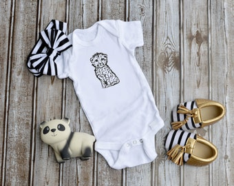 NEW Creations of Grace Newborn Infant Creeper Leopard One Piece