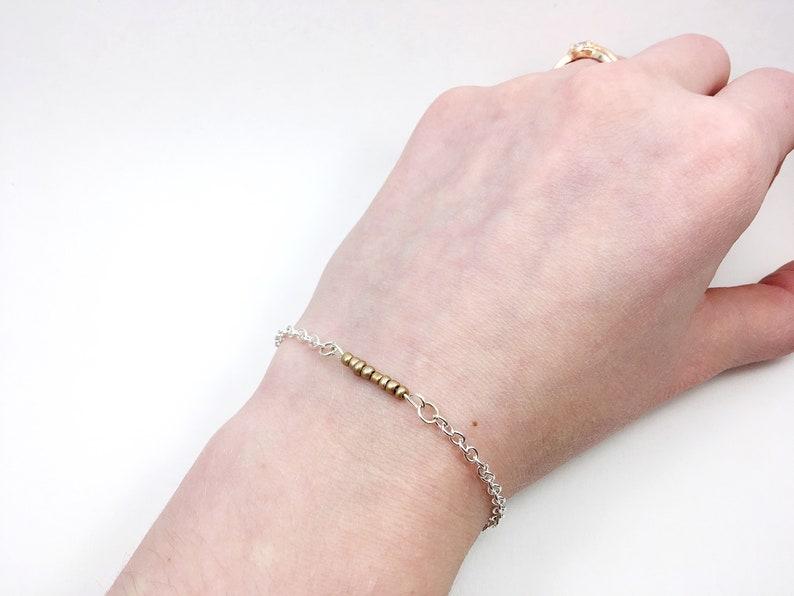 Dainty Bracelet Everyday Bracelet Gold Bar Bracelet
