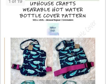 Wearable Hot Water Bottle Cover paper Sewing Pattern