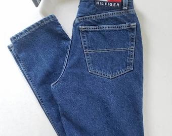4f11b1aa Tommy Hilfiger Jeans Vintage 90s High Waisted Dark Wash