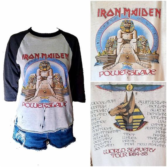 Vintage Iron Maiden Shirt / 84-85 Powerslave Tour