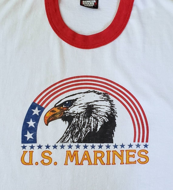 Vintage USMC Ringer Tshirt - image 3