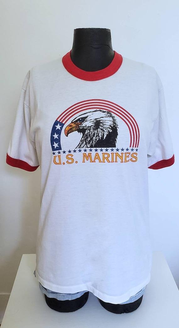Vintage USMC Ringer Tshirt
