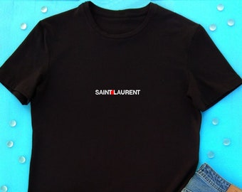 309061aef Fashion T shirt, Saint Laurent inspired T-Shirt, Yves Saint Laurent T-shrt, Saint  Laurent Unisex T-Shirt, Designer t shirt, Beauty t shirt