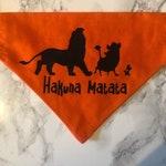 Hakuna Matata- Lion King Dog Bandana. Over the collar
