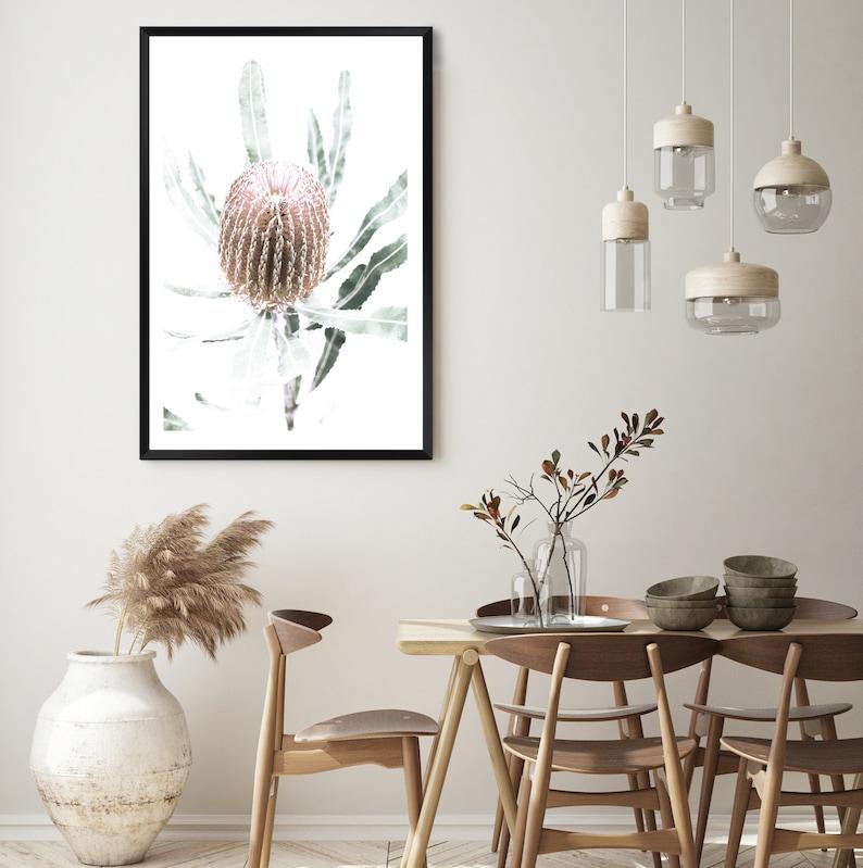 Banksia Flower Floral Art Print Australian Native Wall Art Gift Idea Wall Decor Home Wall Art Print FREE SHIPPING