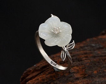 Orchid jewelry Fantasy ring.Elf ring Delicate floral gift Gentle Silver orchid ring