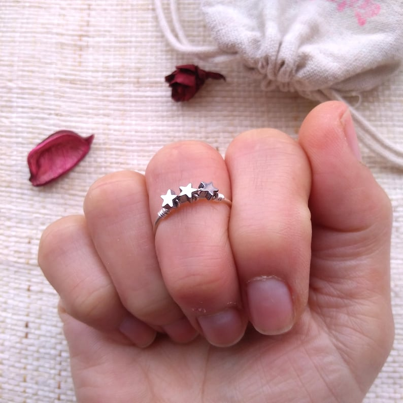 Star gold ring Delicate star ring Star silver ring Dainty star ring Tiny star ring Thin ring Simple ring Delicate ring Minimalist ring mom