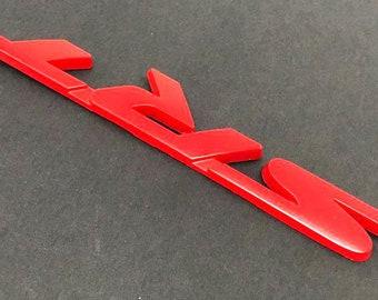✔️ 2X FORD MUSTANG BLACK High Quality 3D Aluminium Emblem Premium Badge 3M