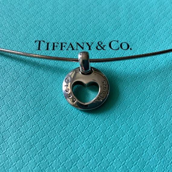 Tiffany & Co Heart Stencil Necklace