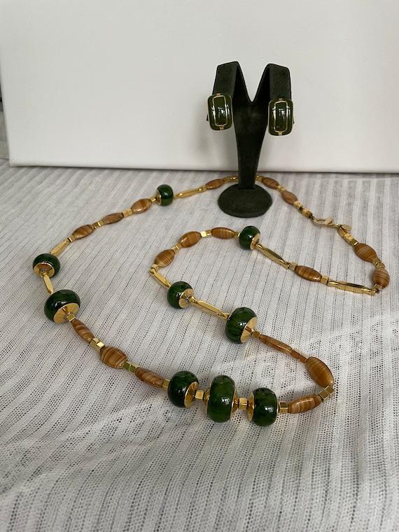 Vintage LANVIN Paris Signed Iconic Green Beaded L… - image 5