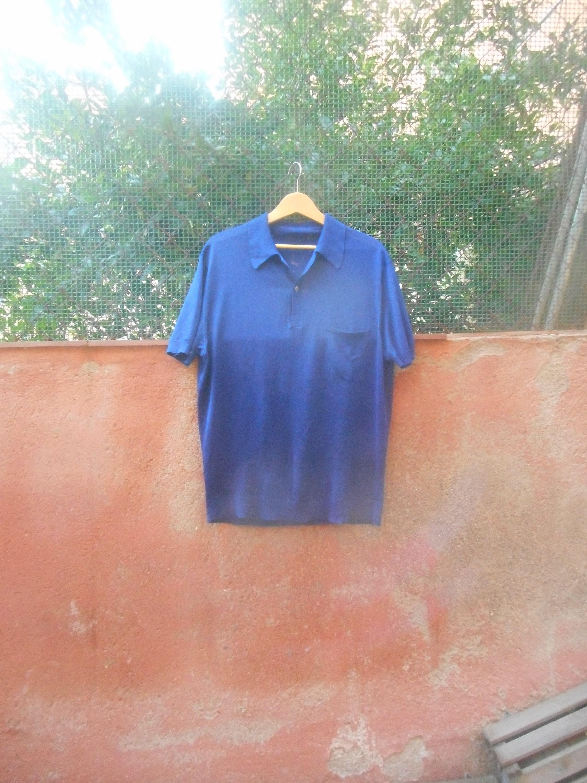 1960s – 70s Men's Ties | Skinny Ties, Slim Ties Vintage 60S Mens Royal Navy Blue Knit Short Sleeved Pullover Shirt Mod Size L $25.28 AT vintagedancer.com